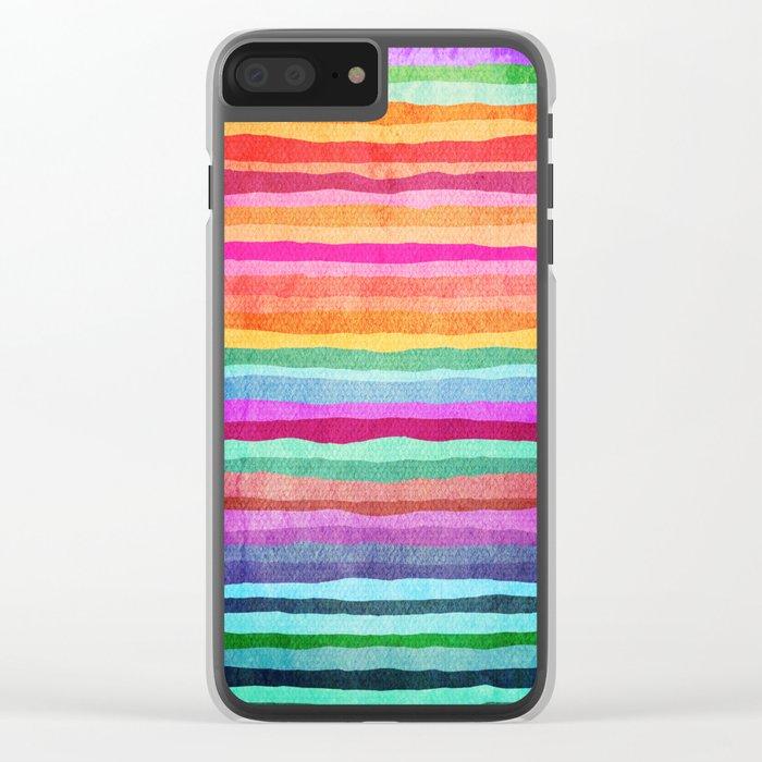 joyful wave Clear iPhone Case