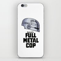 full metal alchemist iPhone & iPod Skins featuring Full Metal Cop by Doodle Dojo