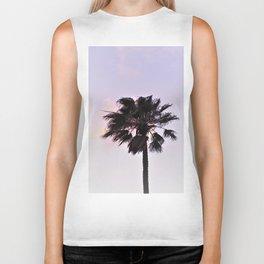 Palm tree in the evening sun Biker Tank