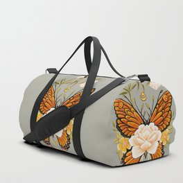 Butterfly Peonies Tattoo Duffle Bag