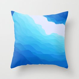 Icy Abyss Throw Pillow