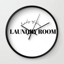laundry room Wall Clock