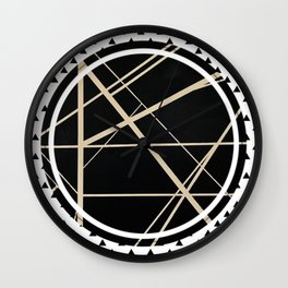 Crossroads - small triangle Wall Clock