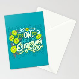 It's OK To Not Do Everything Stationery Cards