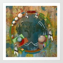 Digital Indian 3 Art Print