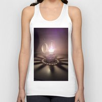 duvet cover Tank Tops featuring LIGHT AND SHADOW DUVET COVER by aztosaha