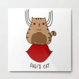 Dali's cat Metal Print