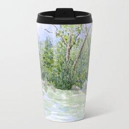 Lake Landscape Watercolor  Travel Mug