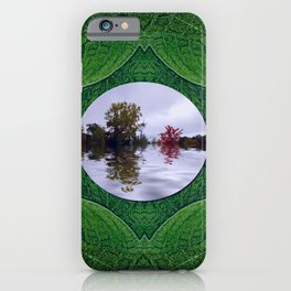 one Island in a safe environment of eternity green iPhone Case