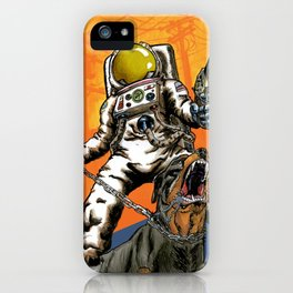 Angry Astronaut iPhone Case