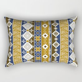 Colorful Aztec pattern with gold. Rectangular Pillow