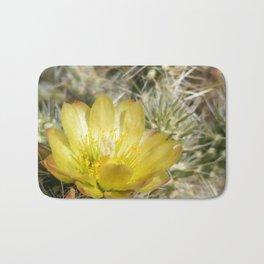 Silver Cholla Cactus Flower Bath Mat