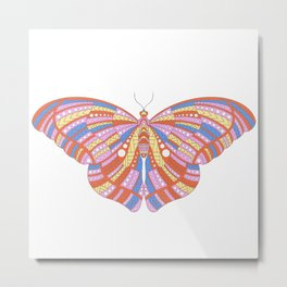 Ethnic Butterfly Metal Print