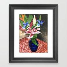 Fresh flowers Framed Art Print