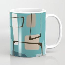 Bold Turquoise Eames Style Art Coffee Mug