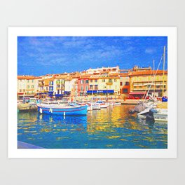 Spring in Cassis Art Print