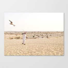 Falconry in the Middle East Canvas Print