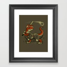 WAITING FOR THE ASTEROID  Framed Art Print
