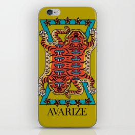 AVZ-WH-TIGER gold iPhone Skin