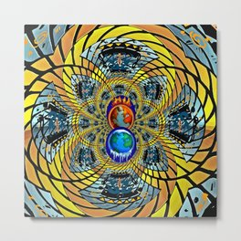 Fire & Ice Metal Print