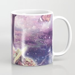 Space Pug Riding Alpaca Unicorn - Pizza & Taco Coffee Mug