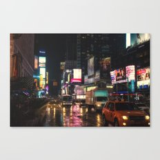 Foggy Times Square Canvas Print
