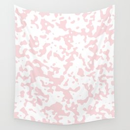 Spots - White and Light Pink Wall Tapestry