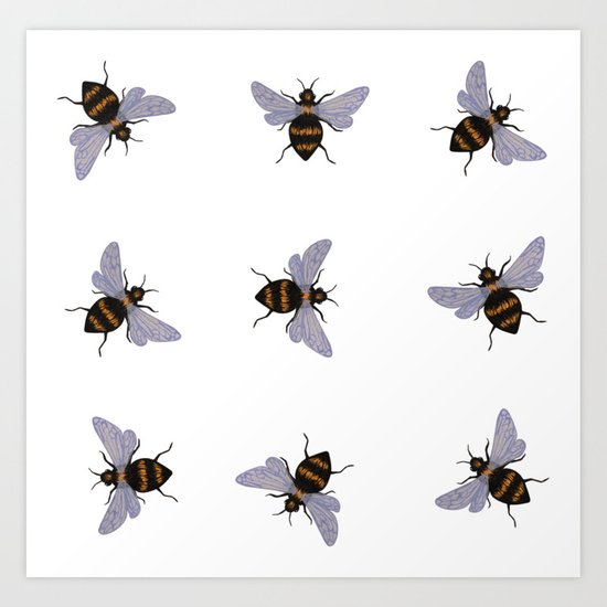 bees by simplynicoleart