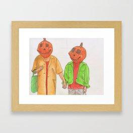 Halloweentown Citizens Framed Art Print