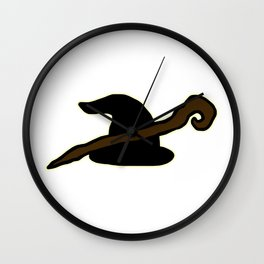 Wizard Hat & Staff Wall Clock