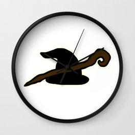 Wizard Hat & Staff Wall Clock