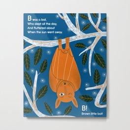 Nonsense Alphabet (Bat) Metal Print