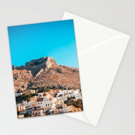 The castle of Leros Stationery Cards