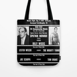 #12-B Memphis Wrestling Window Card Tote Bag