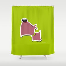 Angry Dawg Shower Curtain