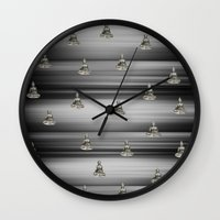 buddha Wall Clocks featuring Buddha by Fine Art by Rina