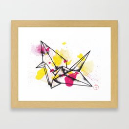 Origami Crane Explosion Framed Art Print