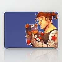 bucky barnes iPad Cases featuring Bucky by zombietonbo