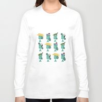 hats Long Sleeve T-shirts featuring hats 1 by Mrwilliam Draw
