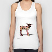 lamb Tank Tops featuring ANIMALS LAMB by mark ashkenazi