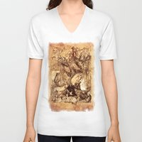 medieval V-neck T-shirts featuring Medieval by TheMagicWarrior