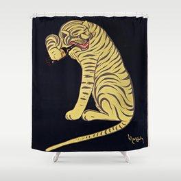Vins fins de XERES Pedro Domeco - 1730 Tiger Bottle Shower Curtain