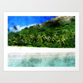 fiji-beach-tropical-sand-water Art Print