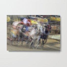 Chuckwagon races; Speed and Chaos Metal Print