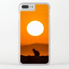 Early Morning Cat Clear iPhone Case