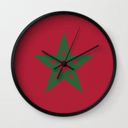 Morocco flag emblem Wall Clock