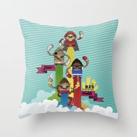 street fighter Throw Pillows featuring Street Fighter 25th Anniversary!!! by Ed Warner