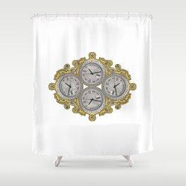 IV O'Clocks Shower Curtain