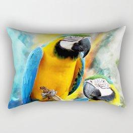 Macaw friends Rectangular Pillow