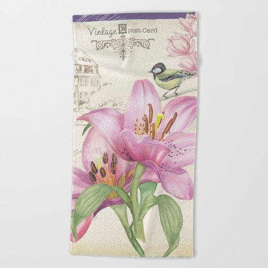 Macro Flower #14 Beach Towel